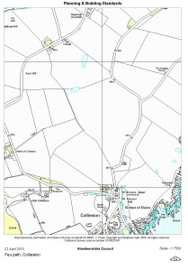 Map - Feu path, Collieston