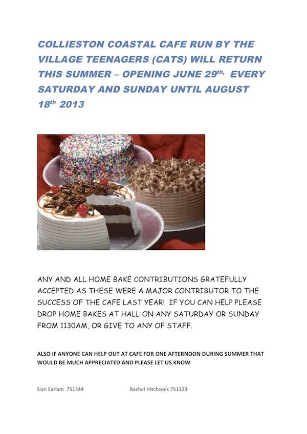 Coastal Cafe - Starts 29th June