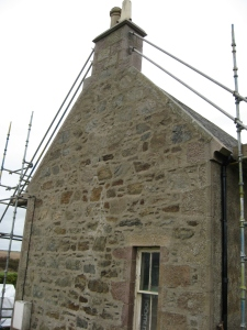 Preparing the gable end