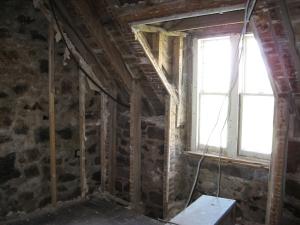 The original stonework exposed.