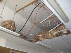 Some people will remember the old ceilng in the hall before the false ceiling were put in.