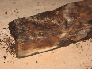 this is the old wooden lintel from the back window in the hall