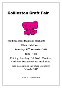 Collieston Craft Fair poster 2014